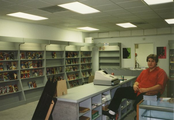 Building out the Vienna store, 1992