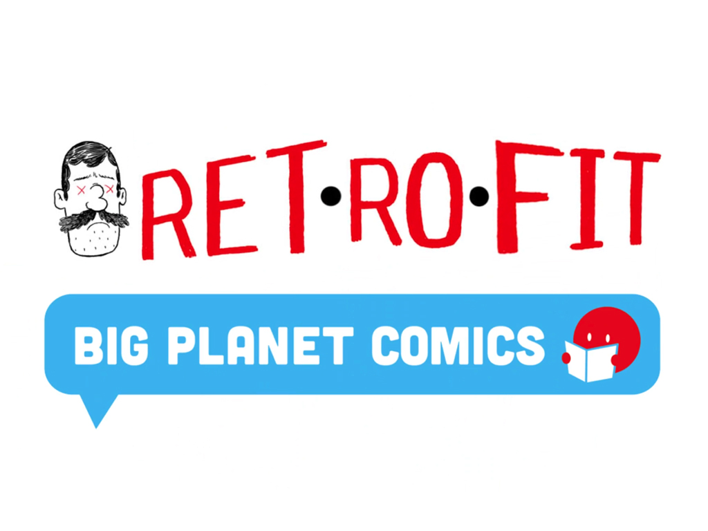 Retrofit Comics Big Planet Comics logos